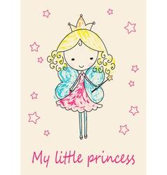 Fairy Tale Princess greeting card vector image
