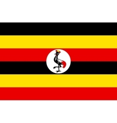 Flag of Uganda in correct proportions and colors vector image