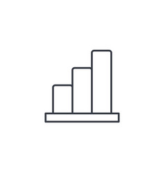 growth graph chart market success stock bar up vector image vector image