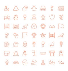 49 small icons vector image