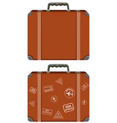 A set of vintage suitcase vector