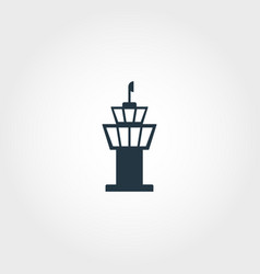 airport tower creative icon simple element vector image