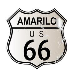 Amarillo route 66 vector