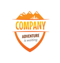 Badge coat arms for travel expedition company vector