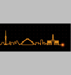 baghdad light streak skyline vector image