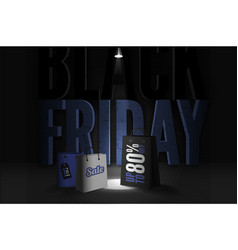 black friday sale mysterious trendy banner vector image