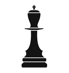 black king piece icon simple style vector image