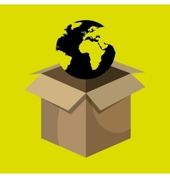 Box global globe vector