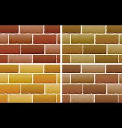 Brick designs vector