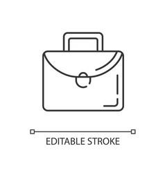 briefcase linear icon vector image