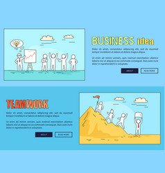 business idea and teamwork vector image