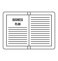 Business plan icon outline style vector