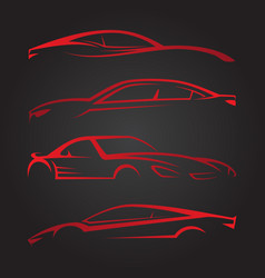 Business set of modern car emblems vector