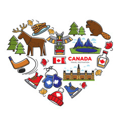 Canada travel destination canadian national vector