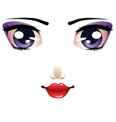 Cartoon female face vector image