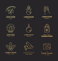 Christmas Logos vector
