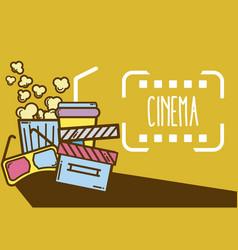 cinema cute cartoon design vector image