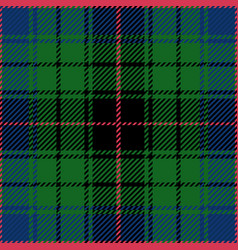 Clan davidson scottish tartan plaid seamless patte vector