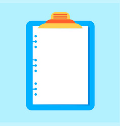 clipboard with paper sheet vector image