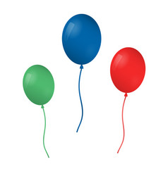 colorful realistic helium balloons isolated on vector image