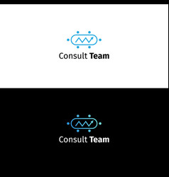Consulting business logo data analytics sign vector