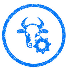 Cow options gear rounded grainy icon vector