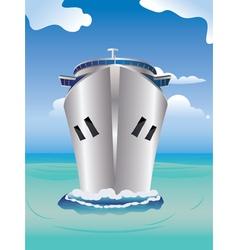 Cruise liner in sea vector