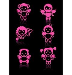 Cupid angels vector