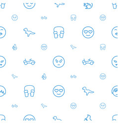 Cute icons pattern seamless white background vector