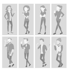 default placeholder avatar set profile vector image