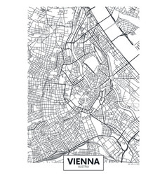 Detailed poster city map vienna vector