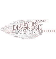 Diagnosis word cloud concept vector