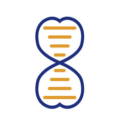 dna genetic sign elements and icons collection vector image