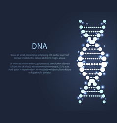 Dna glittering icon deoxyribonucleic acid chain vector