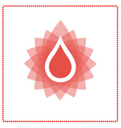 Donor blood drop vector