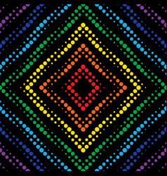 geometric neon effect seamless pattern background vector image