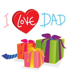 gift love dad vector image