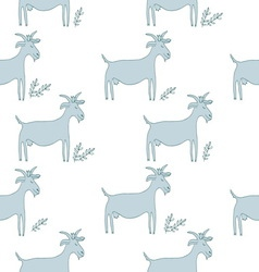 Goat pattern vector image
