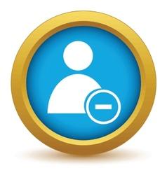Gold remove user icon vector
