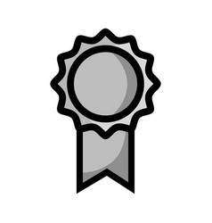 Grayscale school medal symbol to intelligent vector