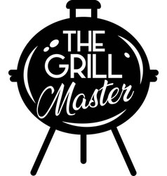 Grill master on white background vector