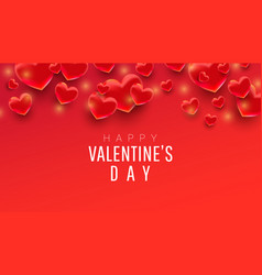 happy valentines day sale background poster card vector image