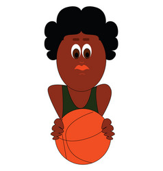 Image basketball player or color vector