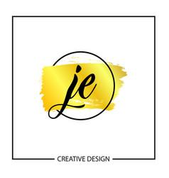 Initial letter je logo template design vector