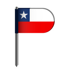 isolated flag of chile vector image