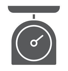 kitchen scale glyph icon kitchen and cooking vector image