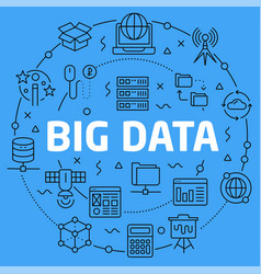 linear big data vector image