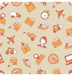 linear Icons set of logistics and delivery vector image