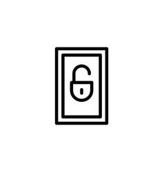 Locker line icon vector