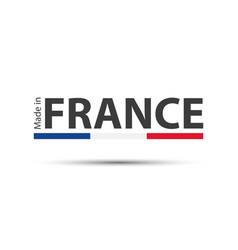 Made in france colored symbol with french tricolor vector